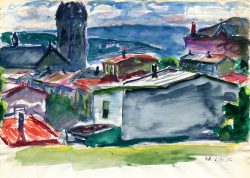 Rooftops by Speight, Francis (1896-1989)