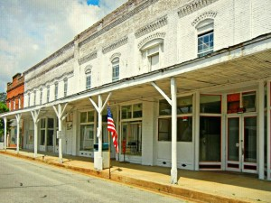Old Glory and Downtown Stantonsburg by Watson  Brown