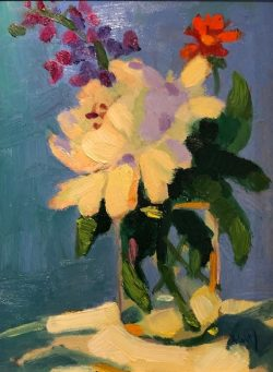 Still Life with Peonies by Al Gury