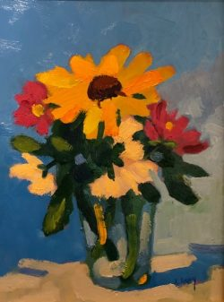 Still Life with Sunflower by Al Gury