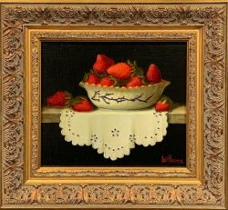 Strawberries and Cloth by Bert Beirne