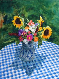 Summer Bouquet with Sunflowers by William C. Wright