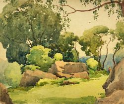 Sunny Pastoral by Harry DeMaine (1880-1952)