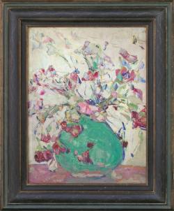 Tea Roses by Wladimir de (Wlodzimierz)  Terlikowski