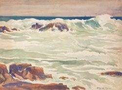 The Curling Wave by Harry DeMaine (1880-1952)