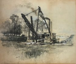 The First Dredge by Harry  Fenn