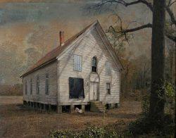 Old Hallsville Church by Watson  Brown