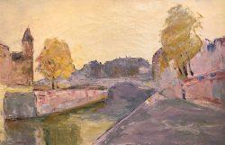 Vue Sur del la I'Ile Cité Paris by Wladimir de (Wlodzimierz)  Terlikowski