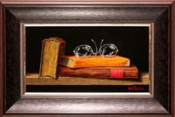 Three Books and Glasses II by Bert Beirne