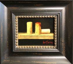 Three Wine Corks by Bert Beirne