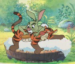Rabbit and Tigger by Walt Disney Studios