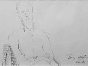 Tony Martin From the London Notebook by Hobson  Pittman