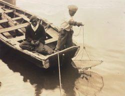 Two Boys Net Fishing by Bayard Wootten