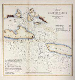 U.S. Coast Survey Beaufort Harbor by Alexander Dallas Bache (1806-1867)