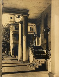 Under the Portico of the South Carolina Society Hall by Bayard Wootten