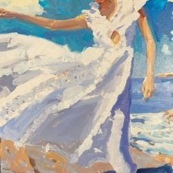 White Dress in the Wind by Laura Lacambra Shubert
