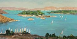 Feluccas on the Nile by Philip  Moose