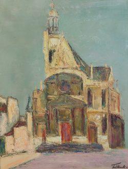 Église de Village by Wladimir de (Wlodzimierz)  Terlikowski