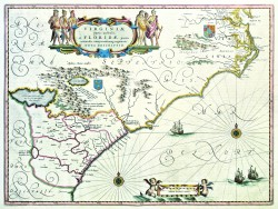 Virginia partis australis et Florida by Willem J. Blaeu