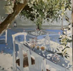 Plein Air Lunch by acrylic and oil on canvas