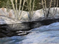 Winter Shawneehaw Creek by David Addison