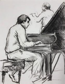 Yefim Bronfman Piano Christopher Hogwood Conducting by Elsie Dinsmore Popkin (1937-2005)