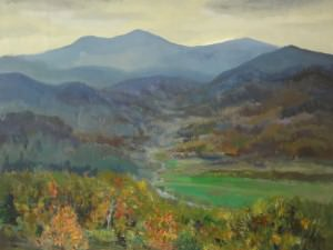 Blue Ridge Mountain View by Philip  Moose