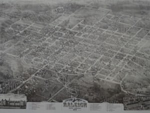 Raleigh, Map of North Carolina, 1872  by Camille N. Drie