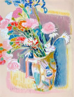 Still Life / Iris and Carnations by Hobson  Pittman