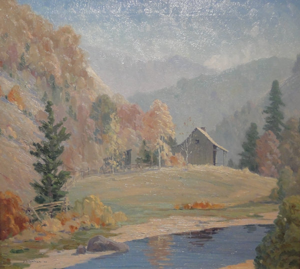 The Old Mountain Home Near Big Smokey Mountians by John Adams Spelman (Senior)