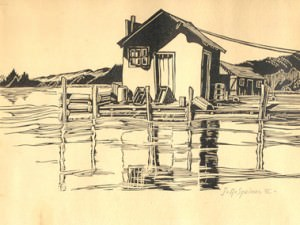 Quiet Fishing Shack by John Adams  Spelman, III